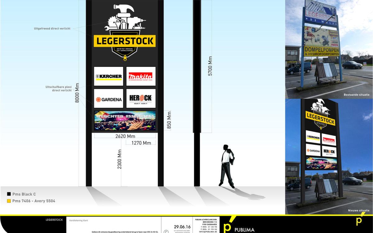 110 Totem Legerstock Publima